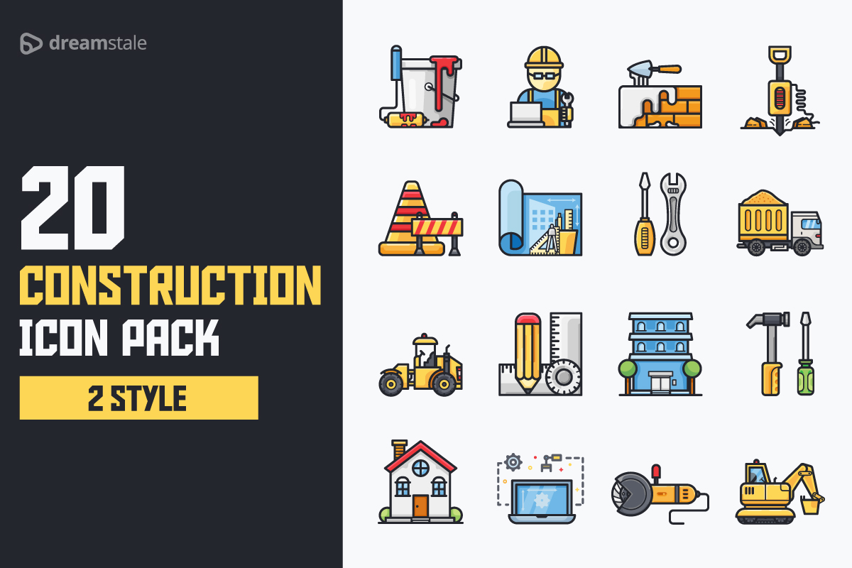 Download Free Construction Icon Pack Graphic By Icon Stale Creative Fabrica for Cricut Explore, Silhouette and other cutting machines.
