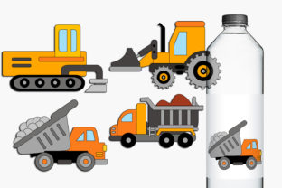 Construction Trucks Graphic By Revidevi