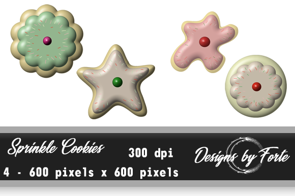 Print on Demand: Cookies Scrapbook Elements Graphic Objects By Heidi Vargas-Smith