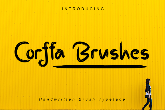 Print on Demand: Corffa Brushes Script & Handwritten Font By damasyp