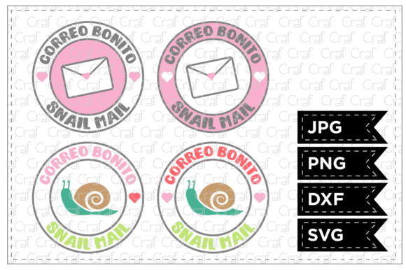 Print on Demand: Correo Bonito Snail Mail Graphic Crafts By Craf Craf
