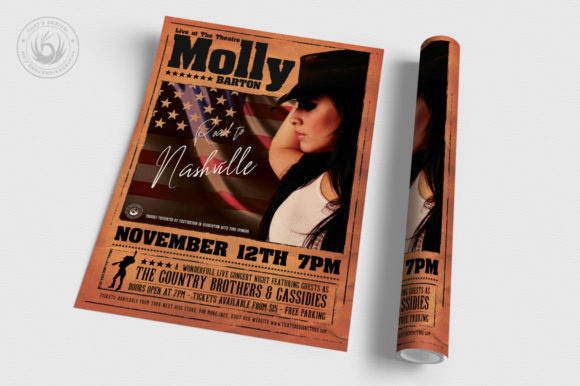 Country Live Flyer Template V2 Graphic Print Templates By ThatsDesignStore - Image 3