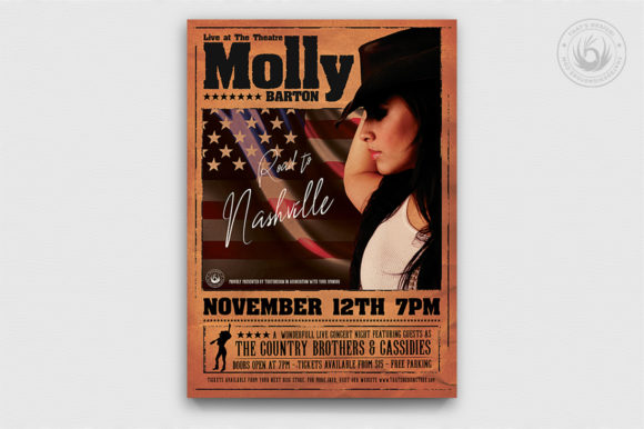 Country Live Flyer Template V2 Graphic Print Templates By ThatsDesignStore - Image 1