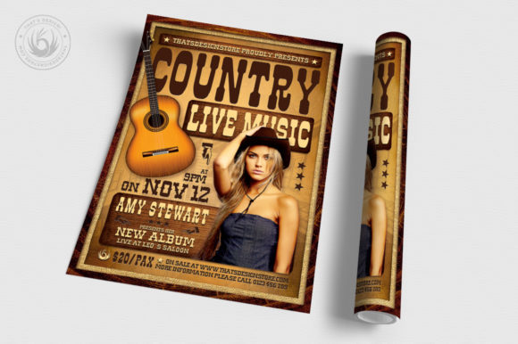 Country Live Flyer Template V4 Graphic By ThatsDesignStore Image 3