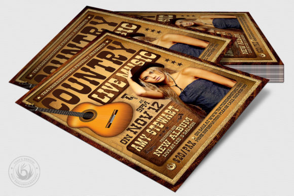 Country Live Flyer Template V4 Graphic By ThatsDesignStore Image 4