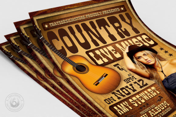Country Live Flyer Template V4 Graphic By ThatsDesignStore Image 5