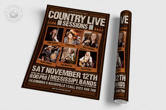 Country Live Flyer Template V6 Graphic By ThatsDesignStore Image 3
