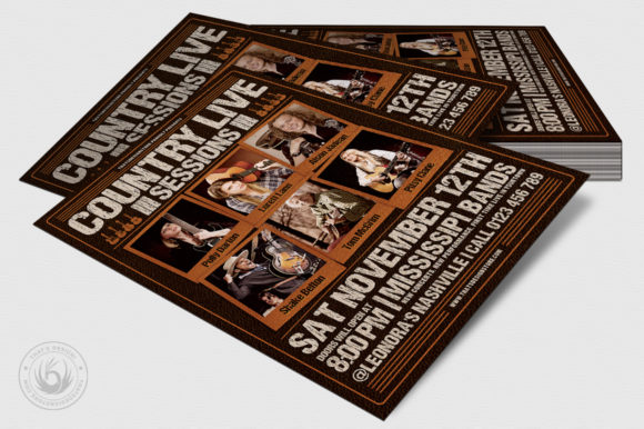 Country Live Flyer Template V6 Graphic By ThatsDesignStore Image 4