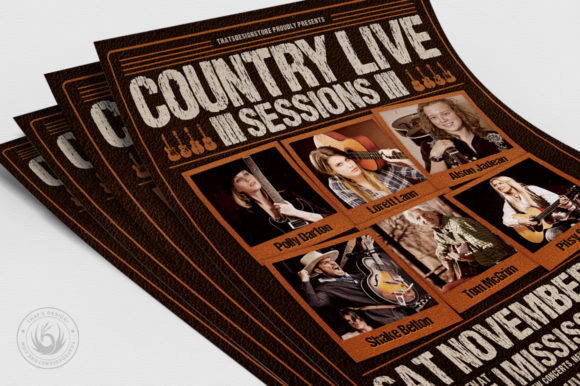 Country Live Flyer Template V6 Graphic By ThatsDesignStore Image 5