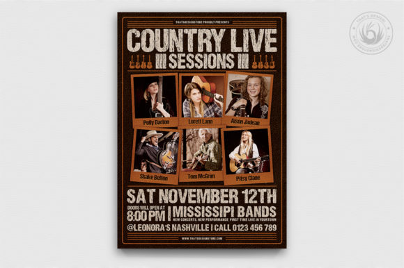 Country Live Flyer Template V6 Graphic By ThatsDesignStore Image 1