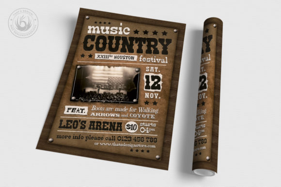 Country Music Flyer Template V2 Graphic By ThatsDesignStore Image 3