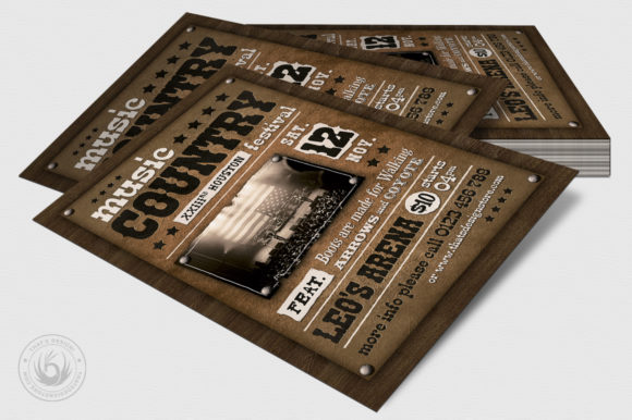 Country Music Flyer Template V2 Graphic By ThatsDesignStore Image 4