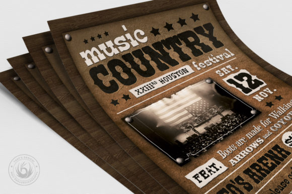 Country Music Flyer Template V2 Graphic By ThatsDesignStore Image 5