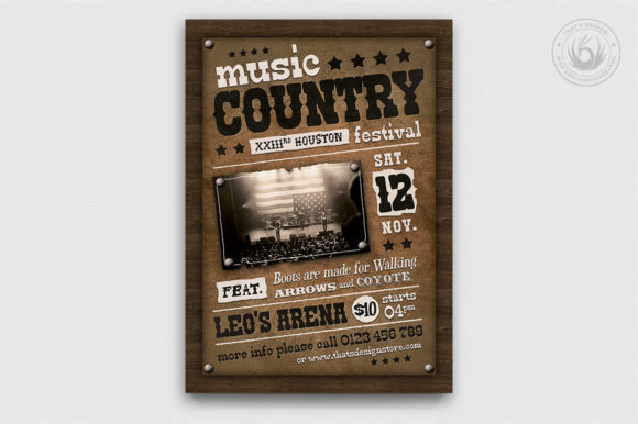 Country Music Flyer Template V2 Graphic By ThatsDesignStore Image 1