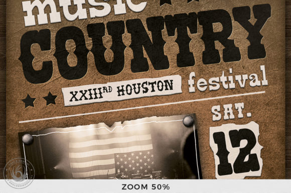 Country Music Flyer Template V2 Graphic By ThatsDesignStore Image 7