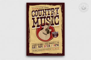 Country Music Flyer Template V3 Graphic By ThatsDesignStore