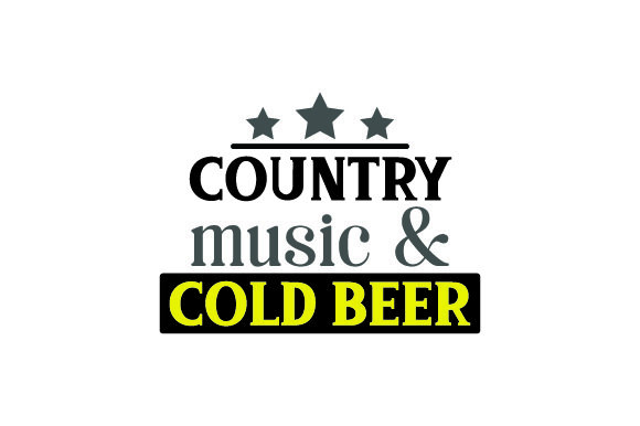 Country Music & Cold Beer Farm & Country Craft Cut File By Creative Fabrica Crafts
