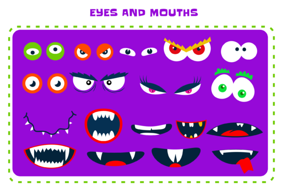 Download Free Create Your Own Monsters Creation Kit Graphic By for Cricut Explore, Silhouette and other cutting machines.