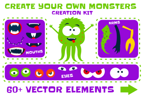 Print on Demand: Create Your Own Monsters -Creation Kit Graphic Illustrations By davidrockdesign