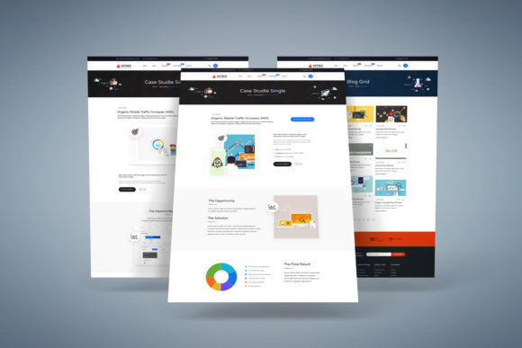 Print on Demand: Creative Seo & Digital Marketing PSD Graphic UX and UI Kits By PakpahanMarg - Image 3