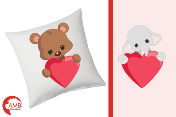 Download Free Critters Love Clipart Amb 2152 Graphic By Ambillustrations Creative Fabrica for Cricut Explore, Silhouette and other cutting machines.
