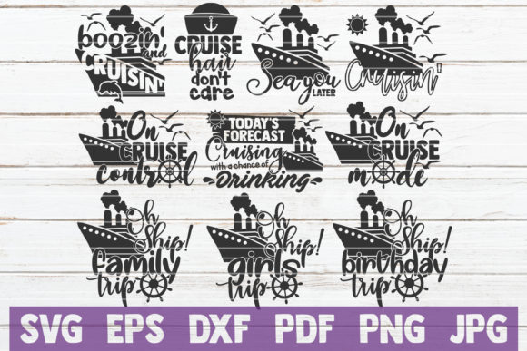 Cruising SVG Bundle Graphic Graphic Templates By MintyMarshmallows - Image 1