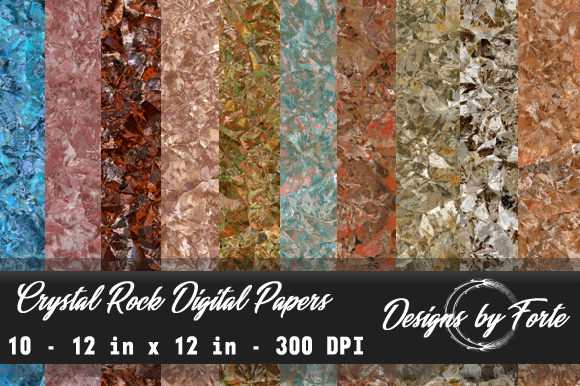 Print on Demand: Crystal Rock Digital Papers Graphic Textures By Heidi Vargas-Smith
