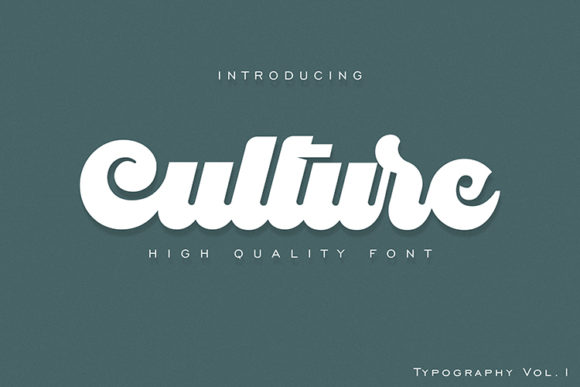 Print on Demand: Culture Display Font By dataibayt