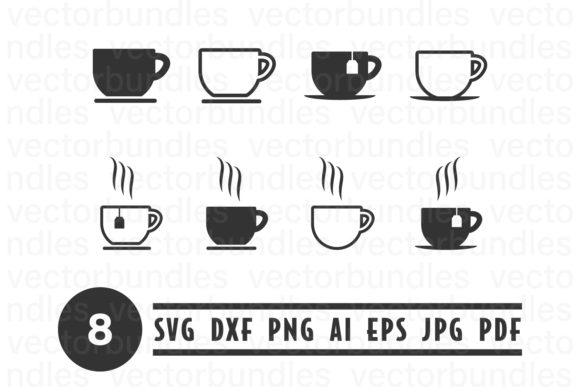 Download Free Cup Of Tea Clip Art Svg Graphic By Vectorbundles Creative Fabrica for Cricut Explore, Silhouette and other cutting machines.