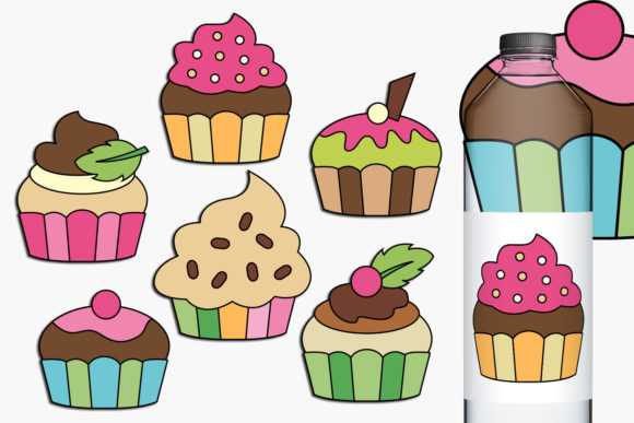 Print on Demand: Cupcakes Graphic Illustrations By Revidevi