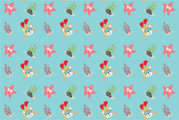 Download Free Cute Bear Do Swimming Seamless Pattern Graphic By 3rieartstudio for Cricut Explore, Silhouette and other cutting machines.