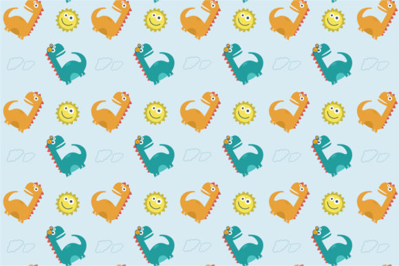 Download Free Cute Dinosaur Seamless Pattern Graphic By 3rieartstudio for Cricut Explore, Silhouette and other cutting machines.