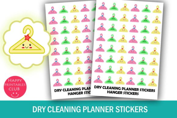 Cute Dry Cleaning Planner Stickers