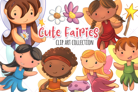 Print on Demand: Cute Fairies Grafik Illustrationen von Keepinitkawaiidesign