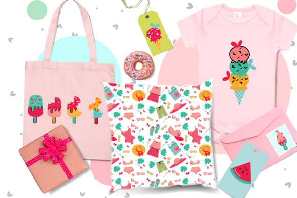 Download Free Cute Hello Summer Bundle Graphic By 3motional Creative Fabrica for Cricut Explore, Silhouette and other cutting machines.