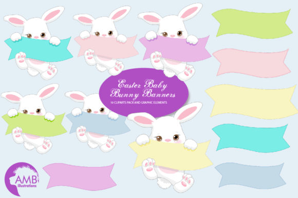 Download Free Cute Little Bunnies Clipart Amb 2189 Graphic By Ambillustrations for Cricut Explore, Silhouette and other cutting machines.