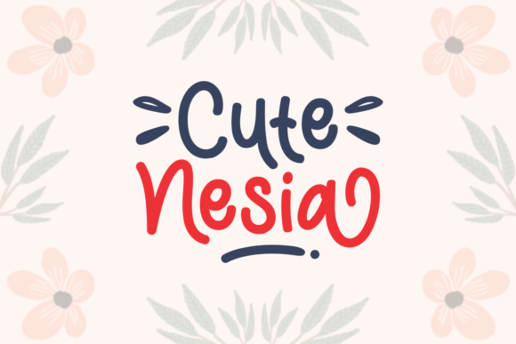 Cute Nesia Font By Adyfo (7NTypes) Image 1