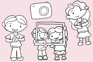 Print on Demand: Cute Photography (Black and White) Graphic Illustrations By Keepinitkawaiidesign 3