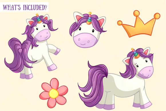 Print on Demand: Cute Unicorns Graphic Illustrations By Keepinitkawaiidesign - Image 2