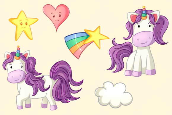 Print on Demand: Cute Unicorns Graphic Illustrations By Keepinitkawaiidesign - Image 3