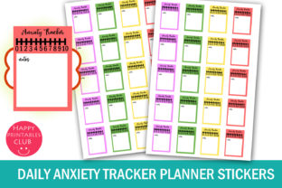 Download Free Daily Anxiety Tracker Planner Stickers Grafico Por Happy for Cricut Explore, Silhouette and other cutting machines.