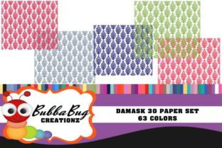 Damask 30 Paper Set Graphic Patterns By BUBBABUG