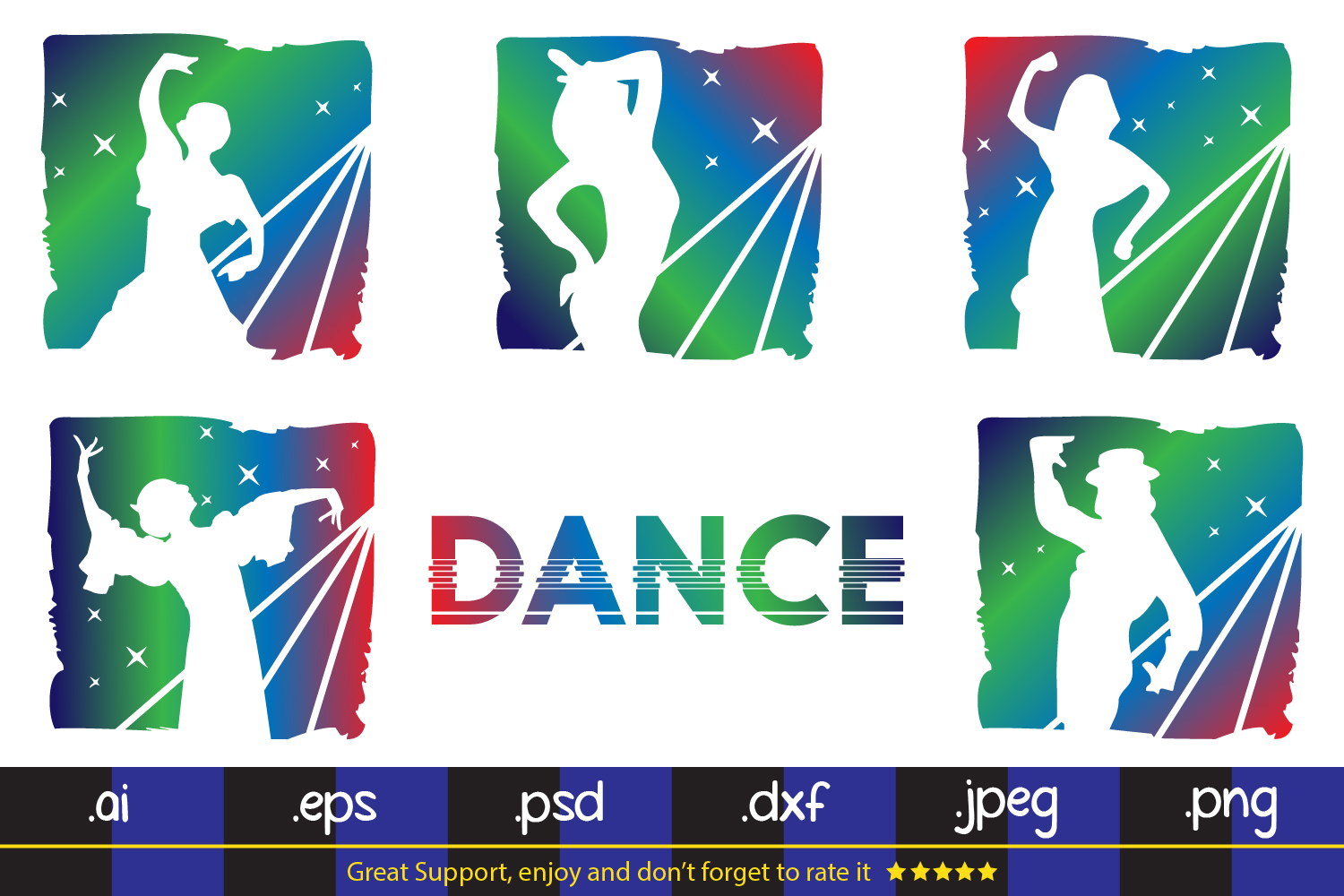 Download Free Dance Party Svg Dxf Eps Png Graphic By Da Only Aan Creative for Cricut Explore, Silhouette and other cutting machines.