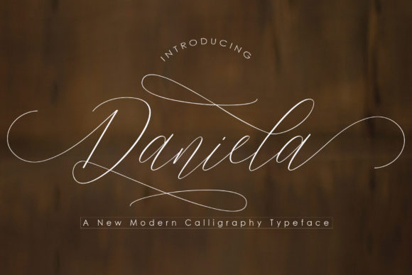 Print on Demand: Daniela Script & Handwritten Font By Polem