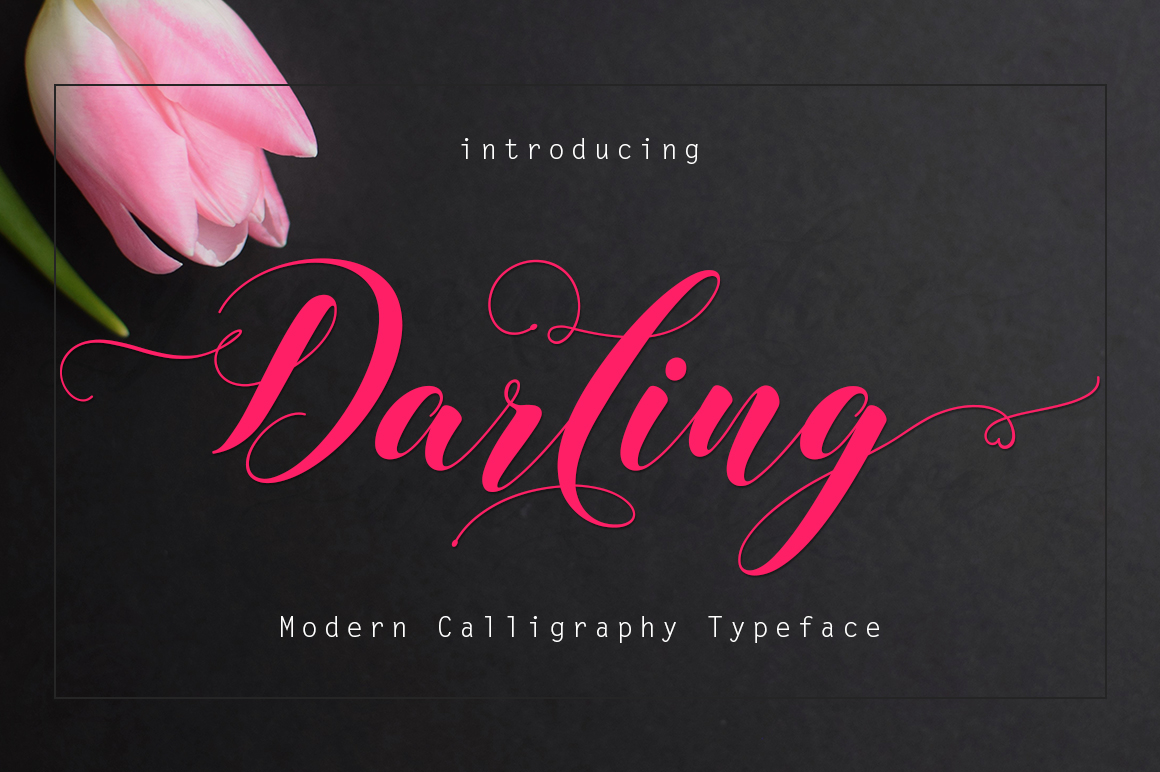 Download Free Darling Font By Rudistudio Creative Fabrica for Cricut Explore, Silhouette and other cutting machines.
