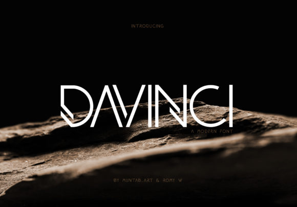Print on Demand: Davinci Sans Serif Font By Muntab_Art