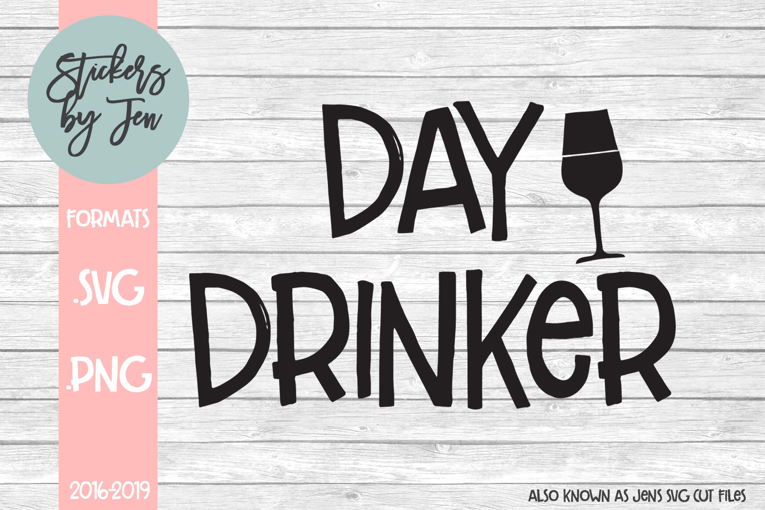 Download Free Day Drinker Graphic By Stickers By Jennifer Creative Fabrica for Cricut Explore, Silhouette and other cutting machines.