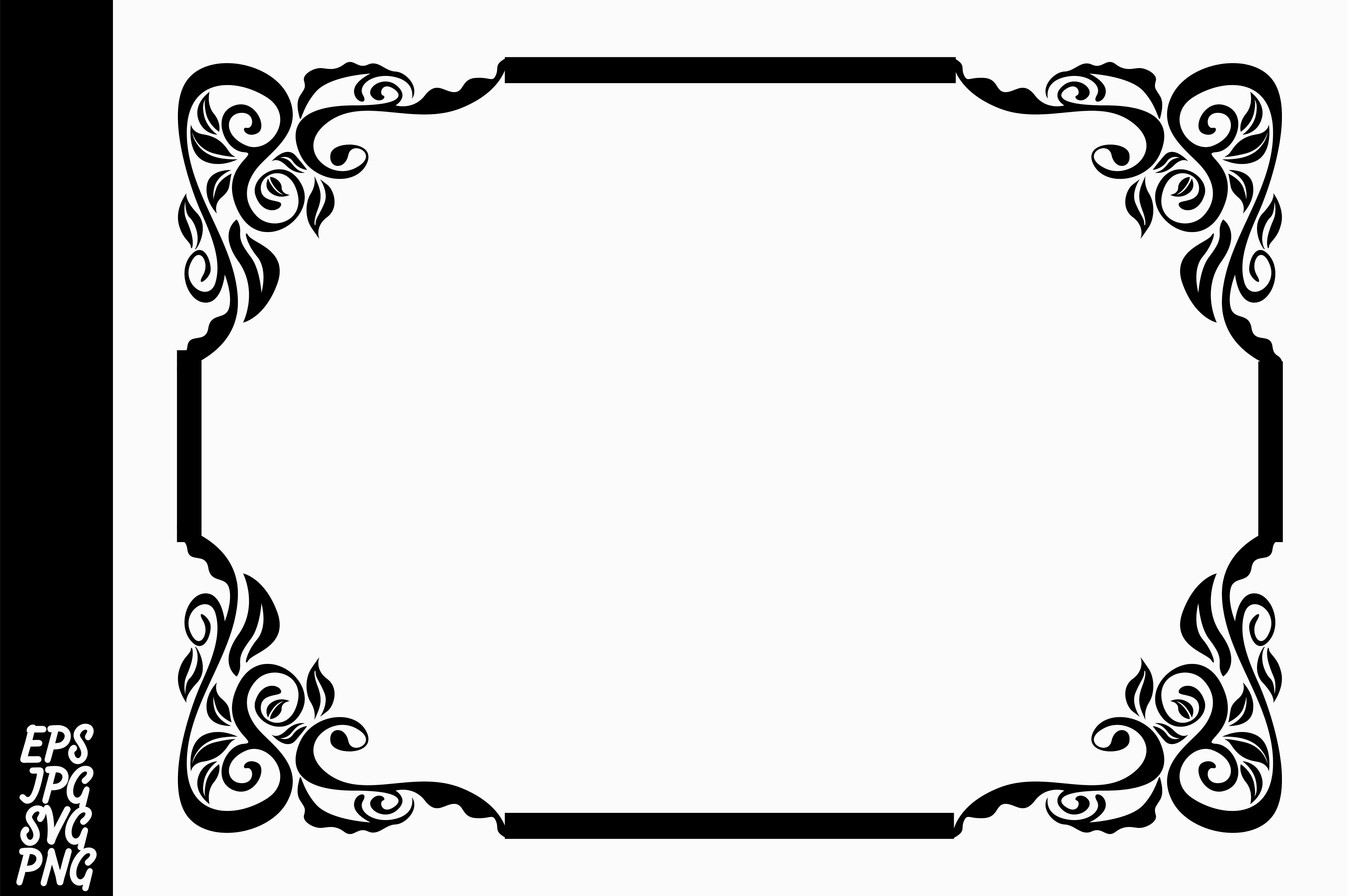 Download Free Decorative Flora Ornament Border Graphic By Arief Sapta Adjie for Cricut Explore, Silhouette and other cutting machines.