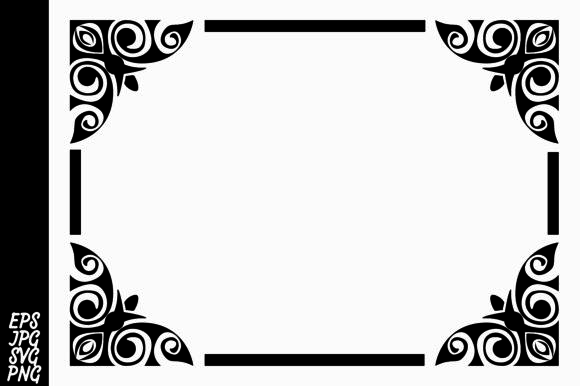 Print on Demand: Decorative Ornament Border Graphic Backgrounds By Arief Sapta Adjie - Image 1