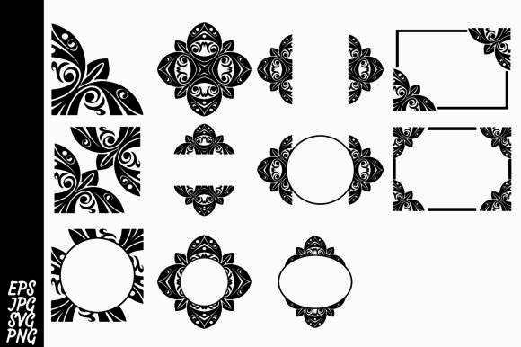 Print on Demand: Decorative Ornament Bundel Graphic Backgrounds By Arief Sapta Adjie